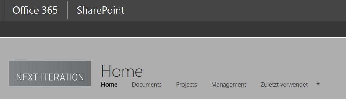 Datenstruktur durch Dokumentenbenennung - horizontale Navigationsleiste