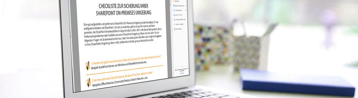 Checkliste zur Sicherung Ihrer SharePoint On-Premises Umgebung